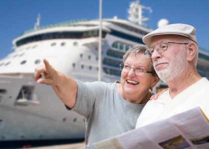 cruise senioren echtpaar